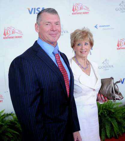 FILE — WWE Chairman Vince McMahon and his wife, Republican candidate for U.S. Senate Conn., Linda McMahon, attend the 134th running of the Kentucky Derby at Churchill Downs on May 3, 2008 in Louisville, Kentucky. Photo: Jeff Gentner, ST / 2008 Getty Images
