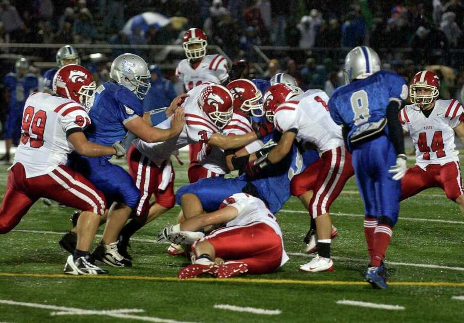 Football highlights between Bunnell and Masuk in SWC action in Stratford, Conn. on Friday October 15, 2010. Photo: Christian Abraham / Connecticut Post