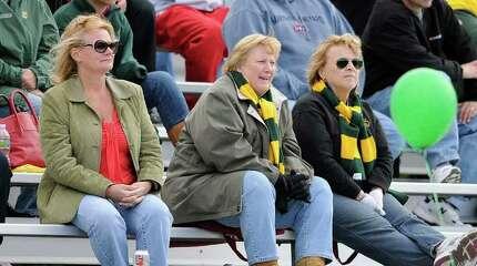Trinity Catholic High School hosts Darien High School in varsity football in Stamford CT on Saturday, October 16, 2010.