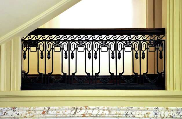 Old Town Hall on Atlantic Street features ornate handrails and marbel tile as seen during a tour of historic downtown Stamford on Saturday, Oct. 16, 2010. Photo: Amy Mortensen / Connecticut Post Freelance