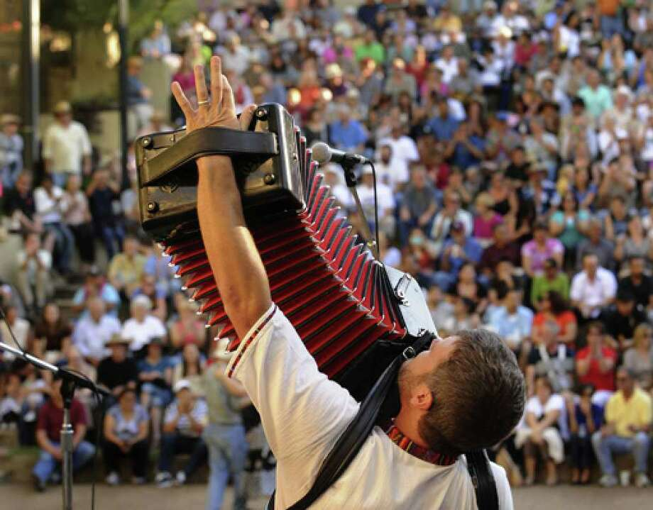 "Polka musician Danny Jerabek   plays during the 2010 International Accordion Festival. The 2012 fest, scheduled for this weekend,  has been ""postponed"" until September.
