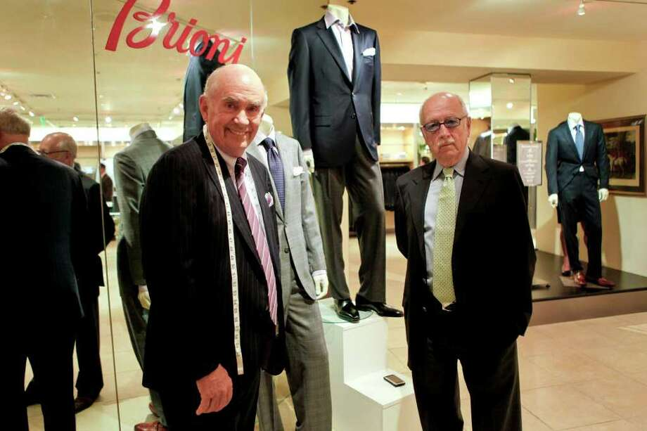 Jack Mitchell, owner of Mitchells stores, left, and Wilkes Bashford pose for a portrait at the Wilkes Bashford store in San Francisco, California, U.S., on Thursday, Sept. 2, 2010. Mitchells stores, a Connecticut clothier to hedge funds and corporate chiefs, prospered with Wall Street until the financial crisis battered sales. Now, the group sees its Wilkes Bashford retail counterpart in California, acquired in bankruptcy court for $4.1 million in November 2009, as the path to growth. Photographer: Ryan Anson/Bloomberg *** Local Caption *** Jack Mitchell; Wilkes Bashford Photo: Ryan Anson, Bloomberg / © 2010 Bloomberg Finance LP