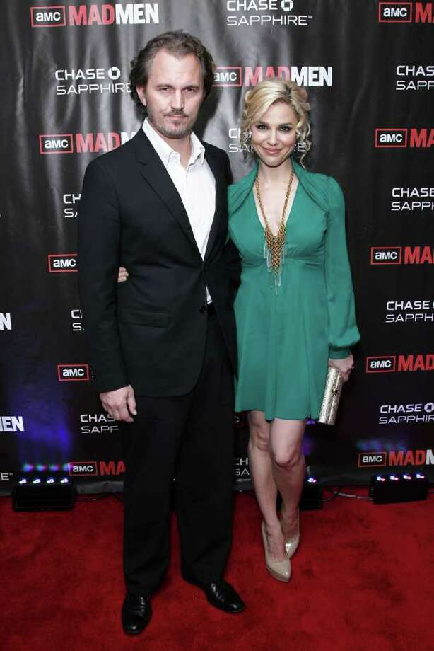 "NEW YORK - OCTOBER 17:  Peter Thum (L) and actress Cara Buono attend the ""Mad Men"" season 4 finale screening at the 21 Club on October 17, 2010 in New York City.  (Photo by Neilson Barnard/Getty Images) *** Local Caption *** Cara Buono;Peter Thum Photo: Neilson Barnard, Getty Images / 2010 Getty Images"
