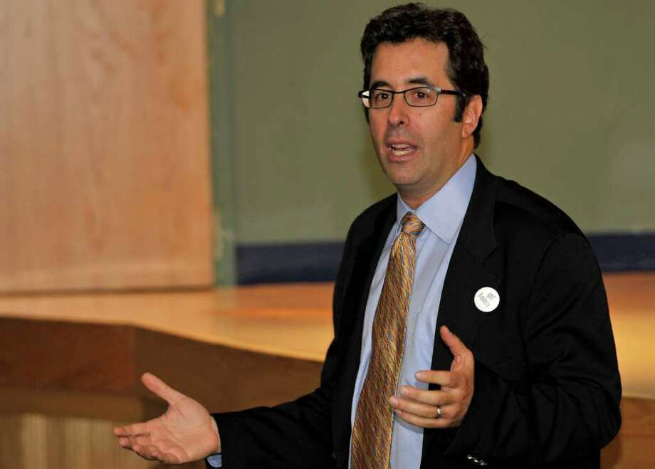 Business start-up expert and author Barry Moltz told an audience at Western Connecticut State University in Danburythat people should start businesses because they're motivated by a passion for what they do. Photo: Contributed Photo / The News-Times Contributed