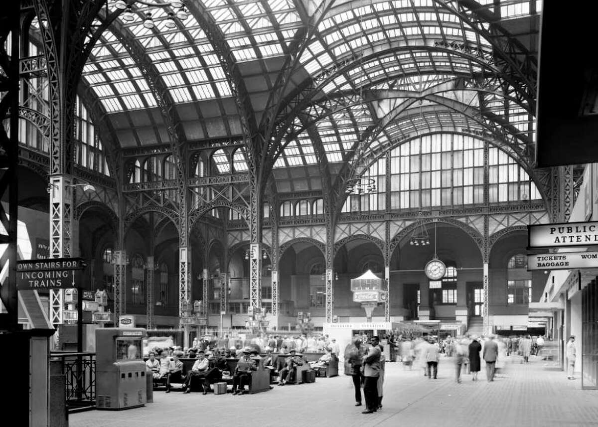 FILE - This April 24, 1962 file photo provided by the Library of Congress shows the main concourse of the original Pennsylvania Station in New York, looking from the southeast, photographed as part of the federal Historic American Buildings Survey. The old Penn Station was completed in 1910 and was torn down in the mid-1960s. (AP Photo/Cervin Robinson, Library of Congress, File)