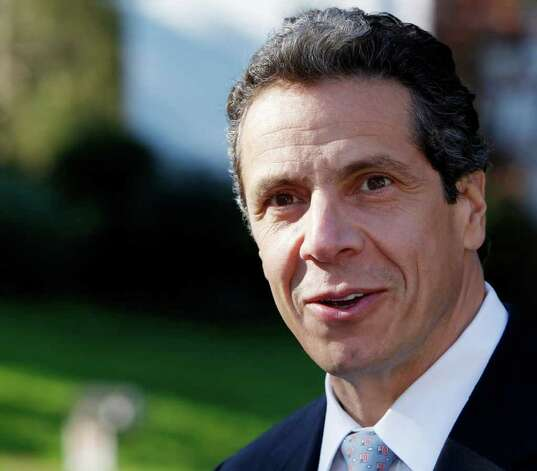 New York Democratic gubernatorial candidate Andrew Cuomo appears unlikely to debate again. He talks about a property tax cap during a campaign event in Poughkeepsie, N.Y., Tuesday, Oct. 19, 2010.  (AP Photo/Mike Groll) Photo: Mike Groll