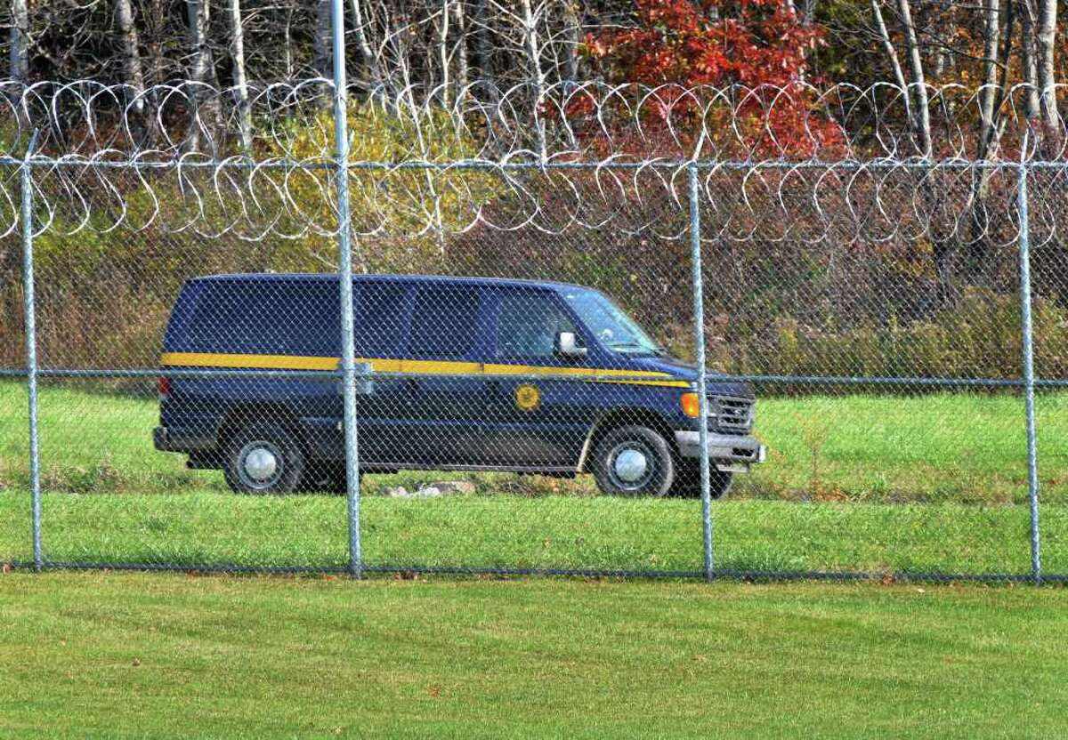 Security patrols continue at Tryon with no one to guard at the Johnstown compound. A state law keeps workers on the job. (John Carl D'Annibile/Times Union)