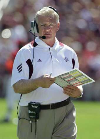 Texas A&M coach Mike Sherman has a 5-13 record in Big 12 play in three seasons.