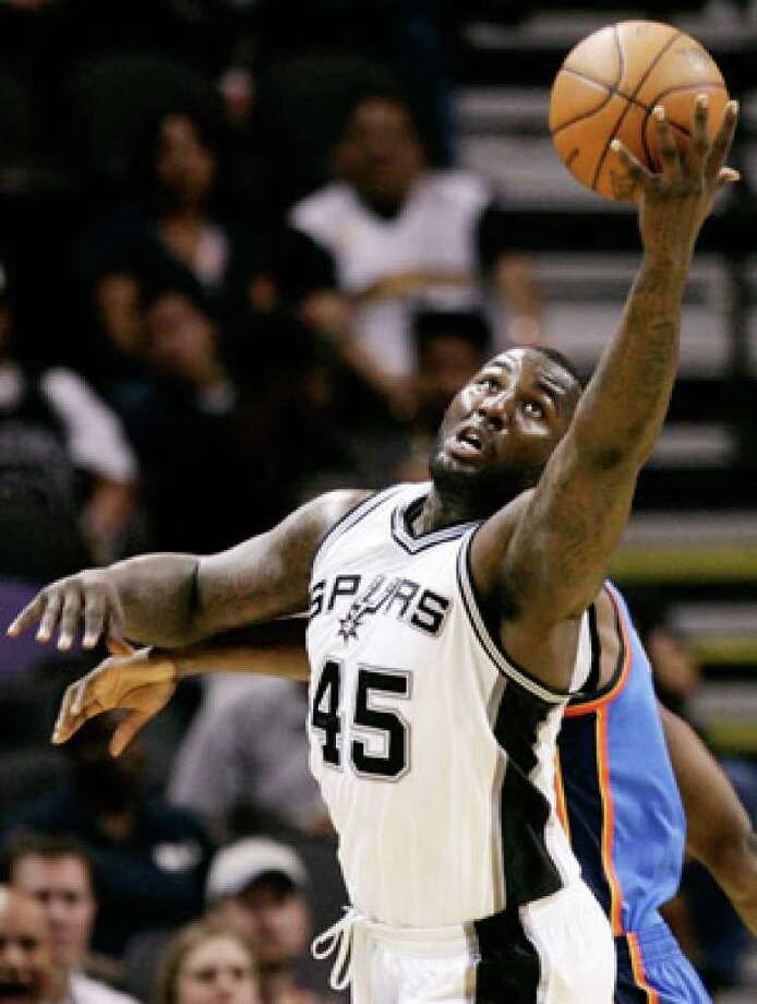 Spurs center DeJuan Blair averaged 7.8 points and 6.4 assists in about 18 minutes per game as a rookie.