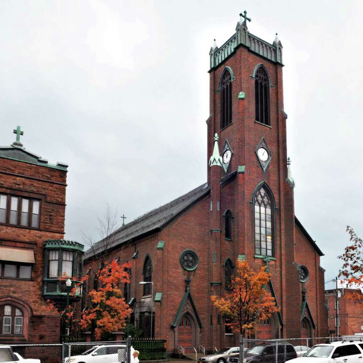 Exterior of the former St. Peter's church in Troy Thursday morning October21, 2010. (John Carl D'Annibale / Times Union)