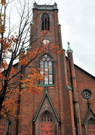 Exterior of the former St. Peter's church in Troy Thursday morning October21, 2010.  (John Carl D'Annibale / Times Union) Photo: John Carl D'Annibale / 00010703A