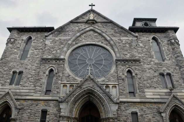 Exterior of the former St. Mary's church in Troy Thursday morning October21, 2010.  (John Carl D'Annibale / Times Union) Photo: John Carl D'Annibale / 00010703A