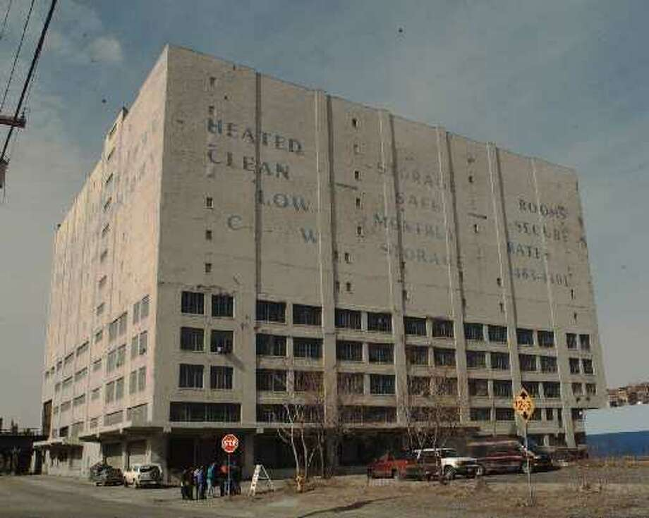 Albany's Central Warehouse, built in 1927, is shown in a 1996 photograph. Firefighters were battling a blaze Friday at the 11-story structure at dowtown. (File photo)