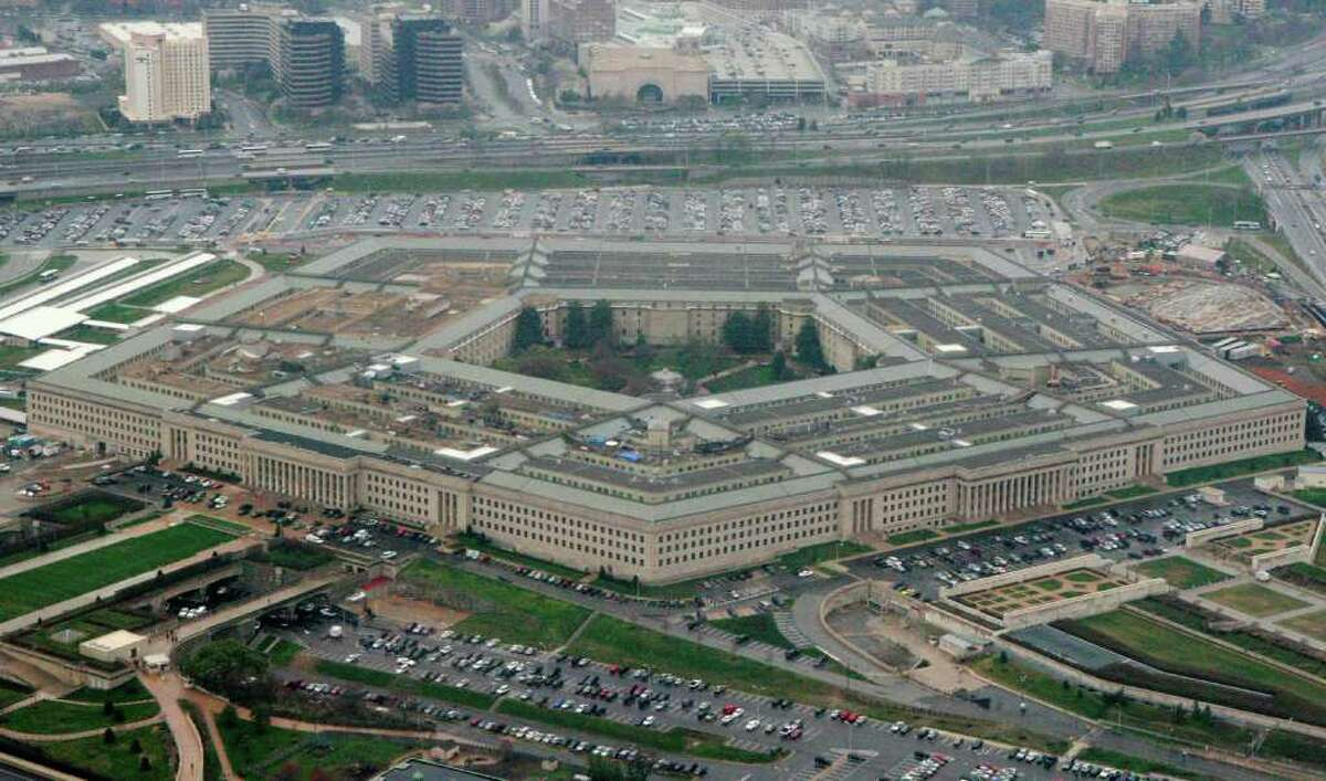 File - The Pentagon is seen in this aerial view in Washington, in this March 27, 2008 file photo. The WikiLeaks website appears close to releasing what the Pentagon fears is the largest cache of secret U.S. documents in history _ hundreds of thousands of intelligence reports compiled after the 2003 invasion of Iraq. In a message posted to its Twitter page on Thursday Oct. 21, 2010, the organization said there was a