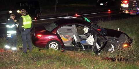 Two-car accident closes Route 7 entrance ramp Friday night