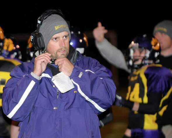 Ballston Spa head coach John Bowen coaches his team against Schenectady. (Hans Pennink / Special to the Times Union) Photo: Hans Pennink