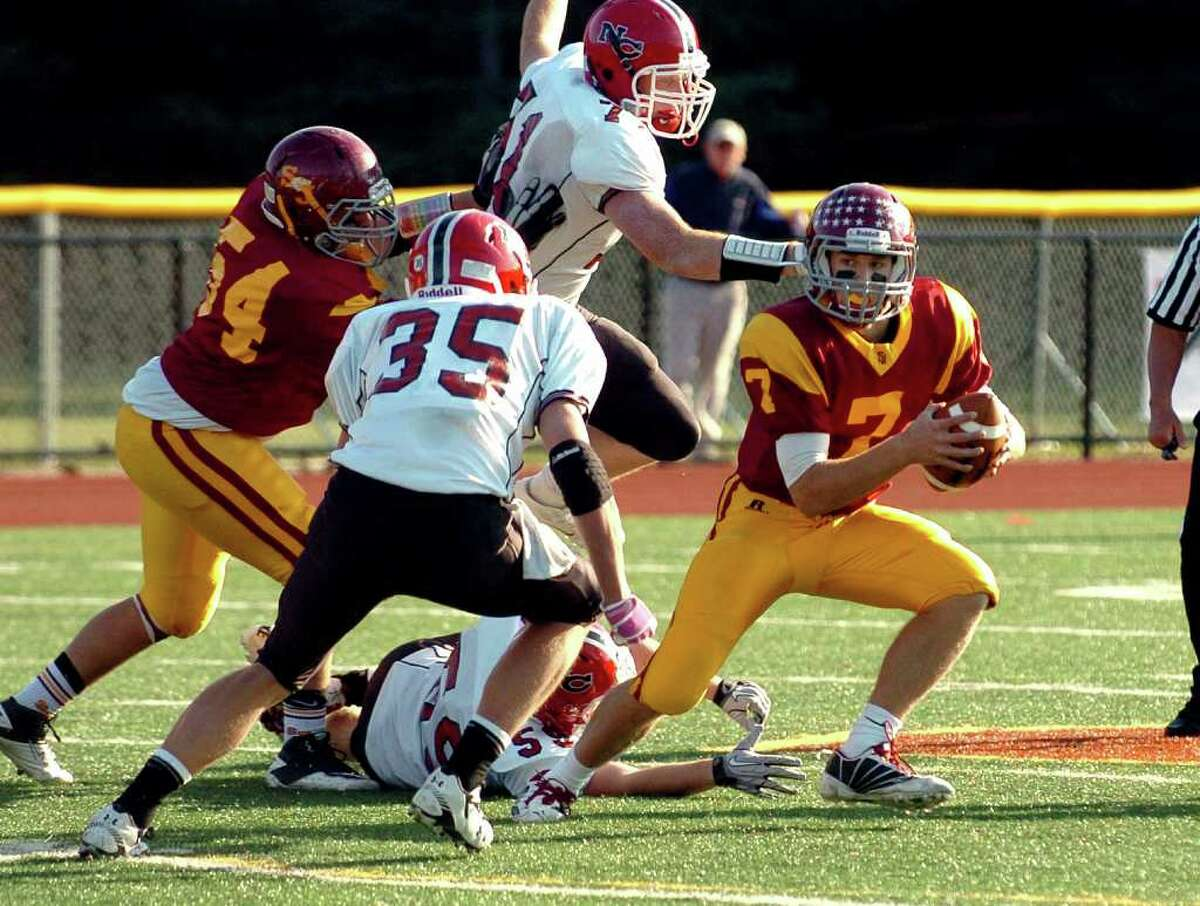 Football action highlights between New Canaan and St. Joseph in Trumbull, Conn. on Saturday October 23, 2010.