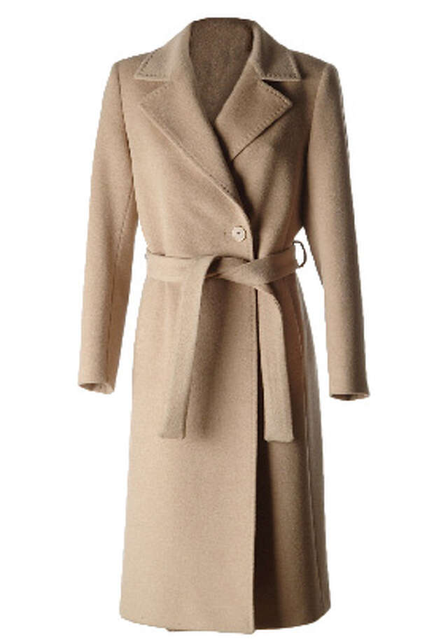 Camel coat: This is pretty and classic and can be bought for anywhere from a couple hundred bucks to more than $1,000. For a more lady-like look, stick with a single-breasted style.