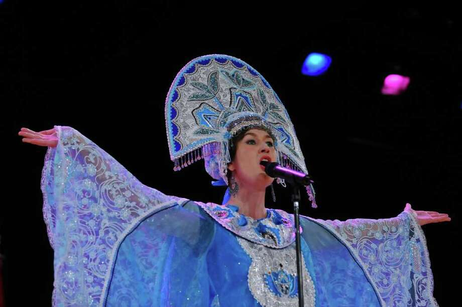 Irina Petrik sings traditional Russian songs during the 39th annual Festival of Nations at the Empire State Plaza Convention Center in Albany, NY on Sunday October 24, 2010. ( Philip Kamrass / Times Union ) Photo: Philip Kamrass