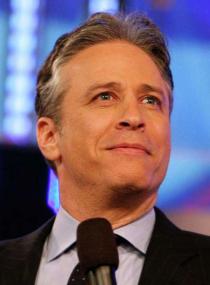 "In this March 12, 2009, photo, Jon Stewart hosts a taping of Comedy Central's ""The Daily Show with Jon Stewart"" in New York. (AP Photo/Jason DeCrow) Photo: Jason DeCrow / FR103966 AP"