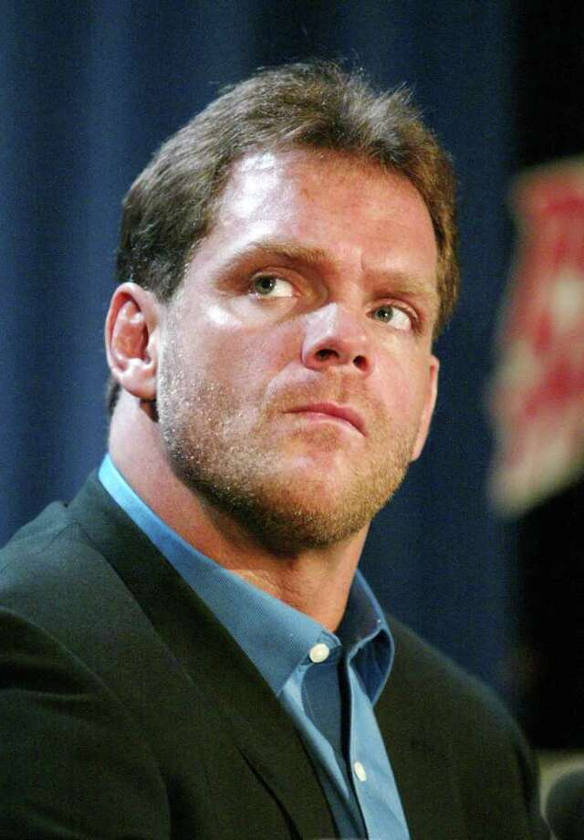 NEW YORK - MARCH 11:  Wrestler Chris Benoit attends a press conference to promote Wrestlemania XX at Planet Hollywood March 11, 2004 in New York City.  (Photo by Peter Kramer/Getty Images) Photo: Peter Kramer, Getty Images / 2004 Getty Images