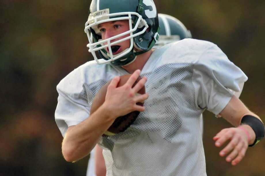 High school fall sports -- football -- Schalmont quarterback Joe Paskevich impressed his coach enough in an emergency role during last year's state semifinals to get the starting nod as a senior this season. ( Philip Kamrass / Times Union ) Photo: Philip Kamrass