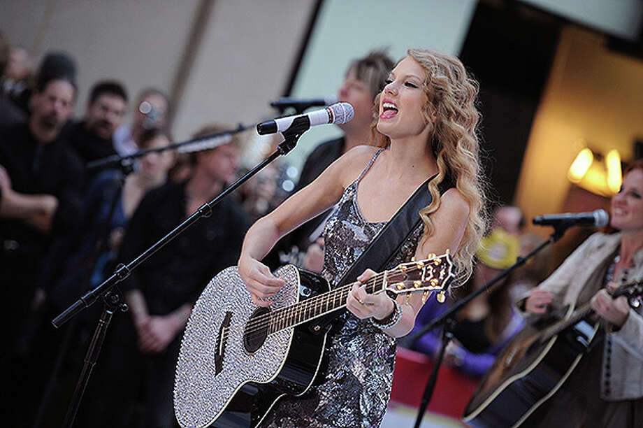 "NEW YORK - OCTOBER 26:  Musician Taylor Swift performs on NBC's ""Today Show"" at Rockefeller Center on October 26, 2010 in New York City.  (Photo by Bryan Bedder/Getty Images) *** Local Caption *** Taylor Swift Photo: Bryan Bedder, Getty Images / 2010 Getty Images"