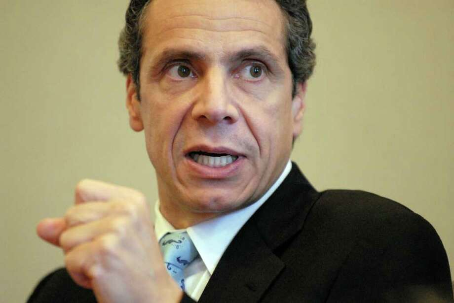 Democratic gubernatorial candidate Andrew Cuomo predicts a tough year ahead if he is elected. (Will Waldron / Times Union) Photo: Will Waldron / 00010788A
