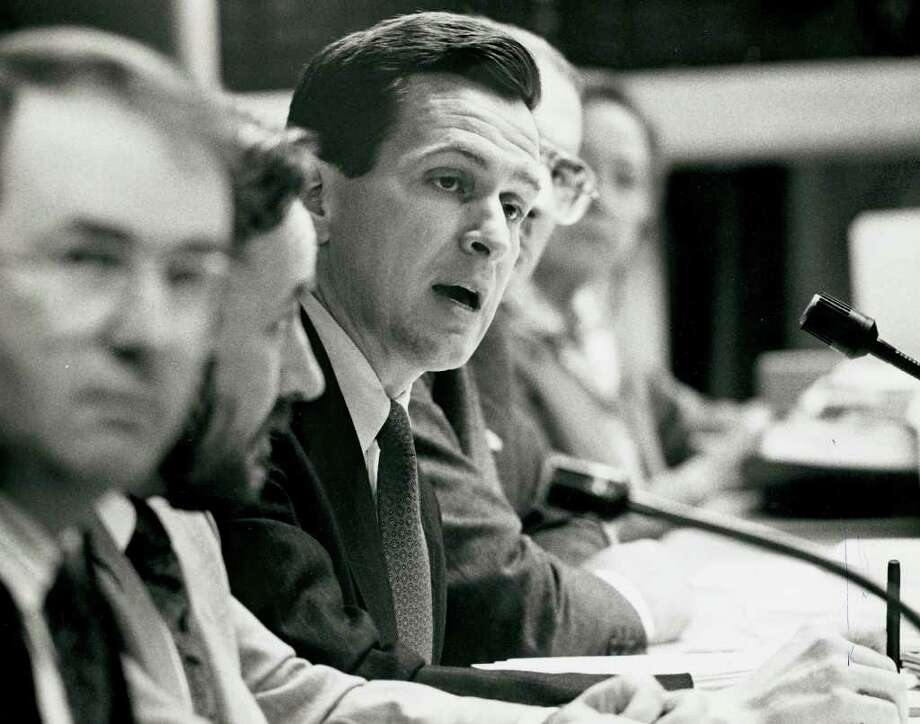 1990: Finance Board Chairman, Dannel Malloy. Photo: File Photo / Stamford Advocate File Photo