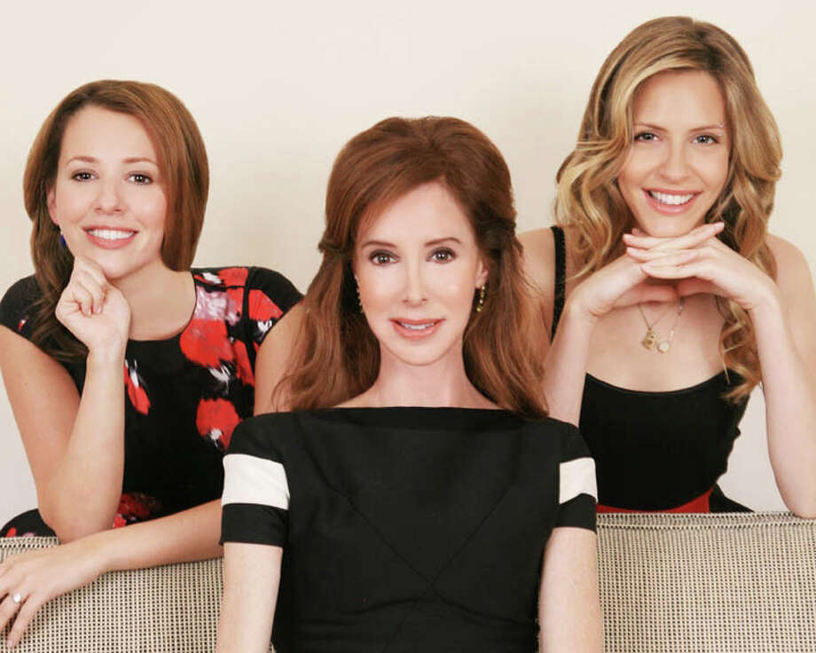 """Susan Shapiro Barash, author of """"You're Grounded Forever…But First, Let's Go Shopping,"""" is flanked by her daughters, Jennie Ripps, left, and Elizabeth Ripps, right. Photo: Contributed Photo / Westport News contributed"""