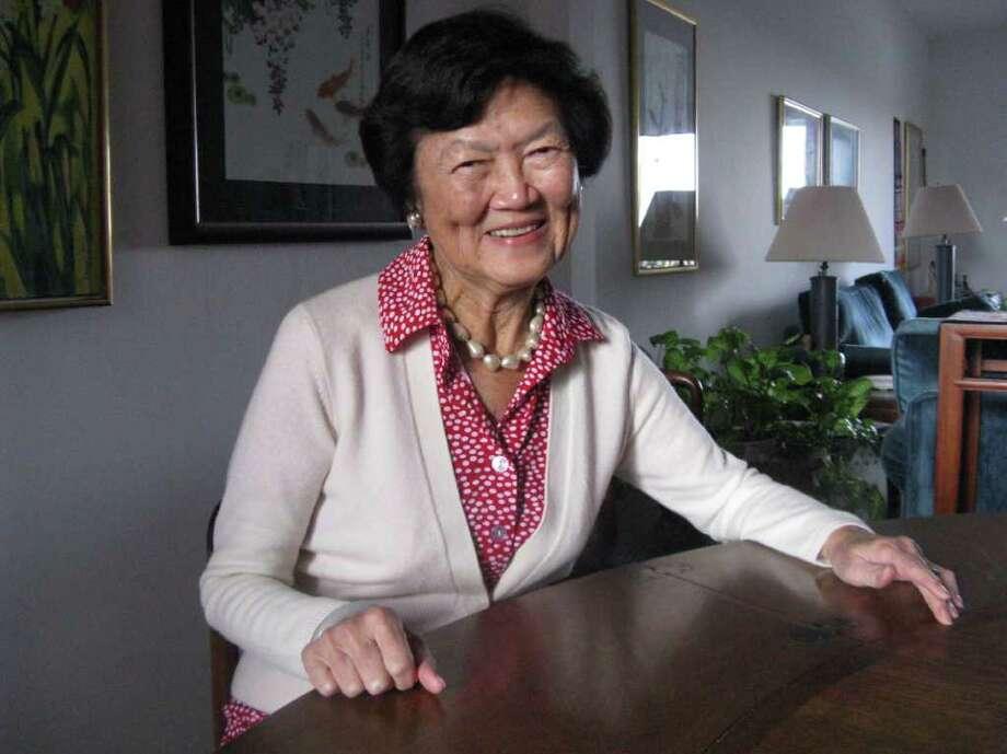 Marylin Chou speaks to Seniority Photo: Anne W. Semmes / Greenwich Citizen