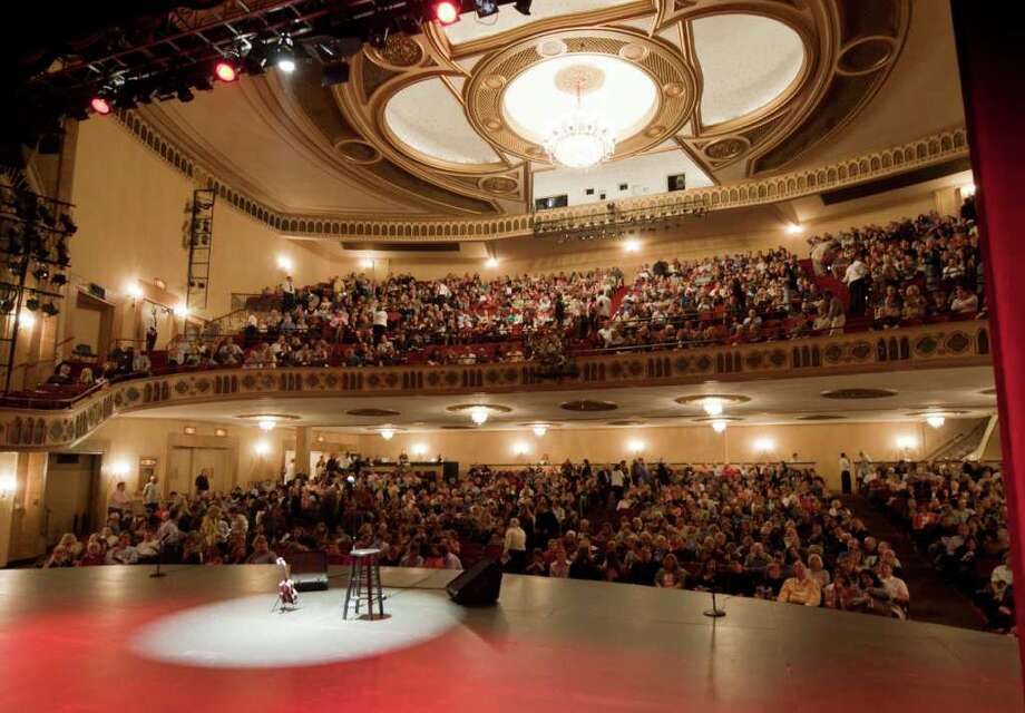 Stage before the Lewis Black performance at the Palace Theatre in Stamford, Conn. Friday Oct. 1, 2010. (Photo/Douglas Healey for The Advocate). Photo: Douglas Healey, ST / Stamford Advocate Freelance