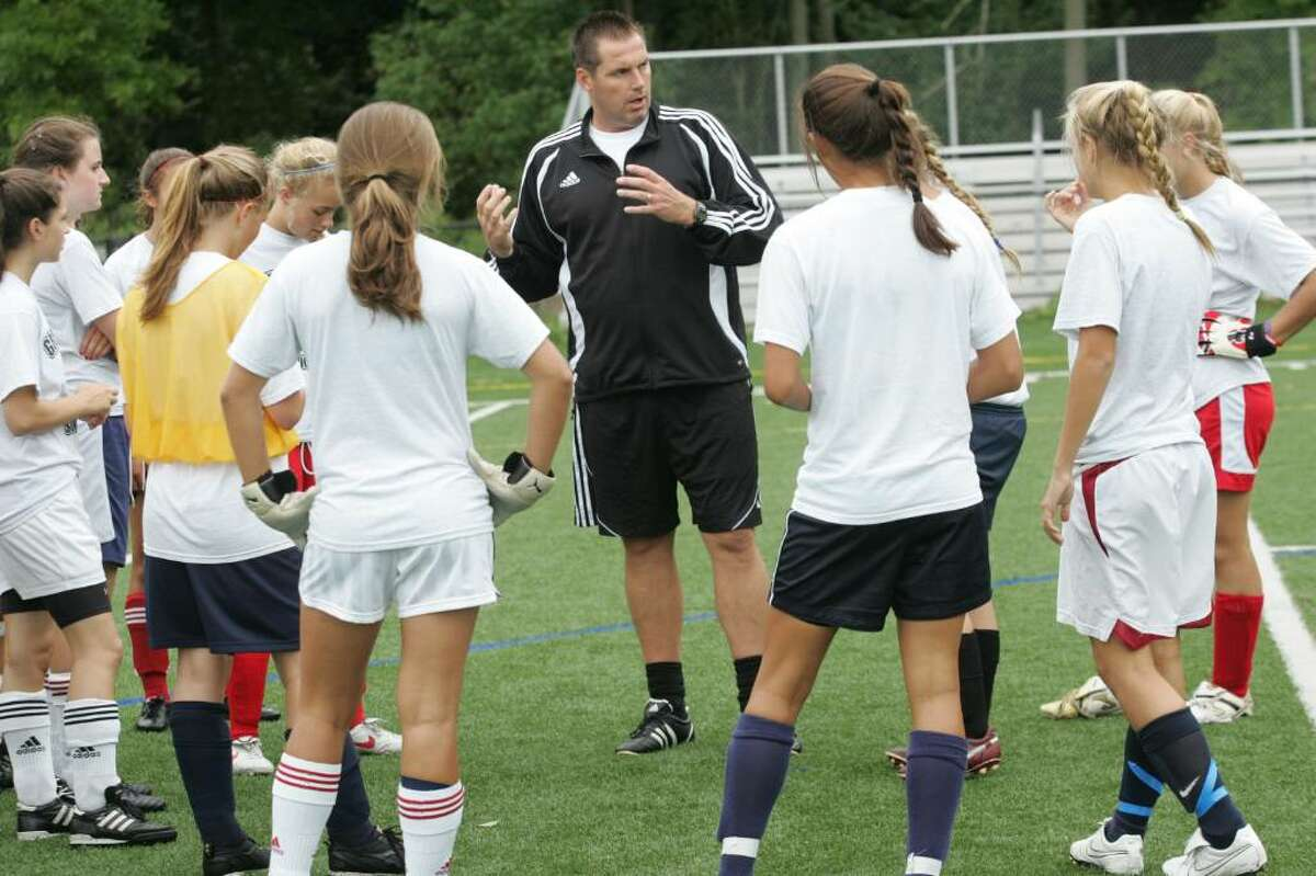Greenwich High School girls soccer coach Danny Simpson starts his fifth season at the school this year.