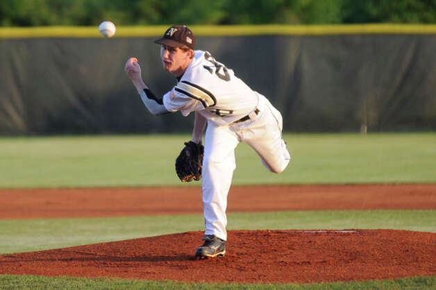 Nederland pitcher Cody Laird throws against PN-G during their matchup on Tuesday. Laird has verbally committed to pitch at Lamar University next season.  Valentino Mauricio/The Enterprise / Beaumont