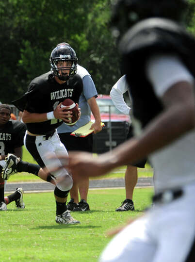 Kirbyville plays a scrimmage agianst Silsbee at Kirbyville High School, Saturday. Tammy McKinley/The
