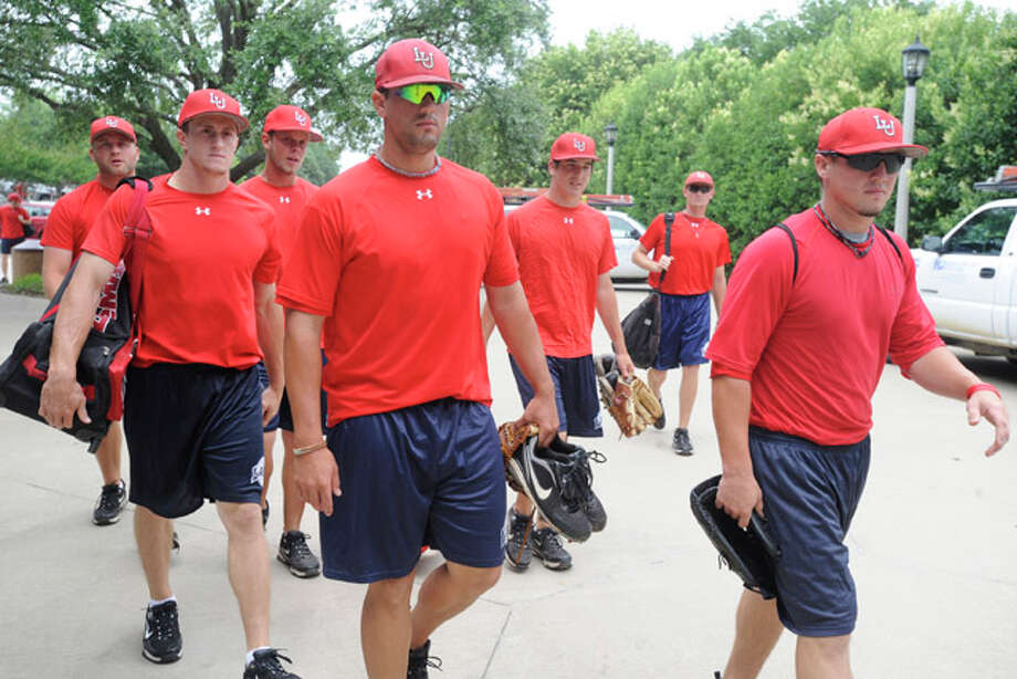 The Lamar University baseball team arrives for practice at Texas Christian University's home baseball park in Fort Worth as it prepares for Friday's NCAA tournament game against TCU. Valentino Mauricio/The Enterprise
