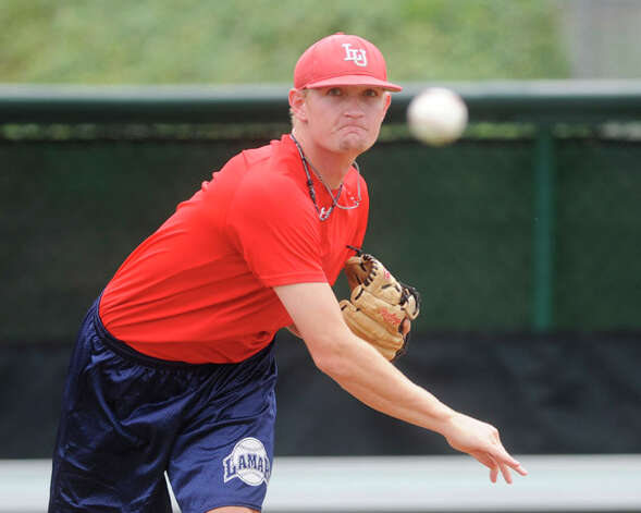 Lamar pitcher Matison Smith prepares for Friday's NCAA tournament game against TCU during an afternoon practice on Thursday at Texas Christian University's Lupton Stadium in Fort Worth. Smith will be the starting pitcher in the 7p.m. matchup against TCU.  Valentino Mauricio/The Enterprise