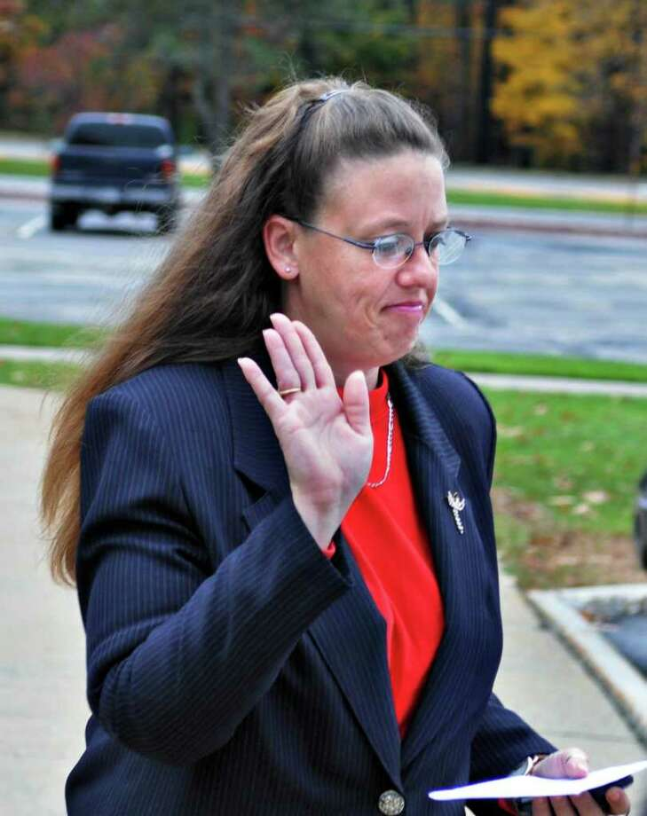 Helen Prince declines comment as she leaves Warren County Family Court following a custody hearing Wednesday afternoon.   (John Carl D'Annibale / Times Union) Photo: John Carl D'Annibale / 00010805A