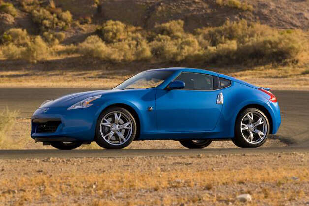 No. 10: Nissan 370Z. The 370Z is an automatic head-turner, boasting distinctive, eye-grabbing lines. It shows off a drooping hood, shark-mouth grille, flat fastback roof, and artfully cut headlamps and taillamps.