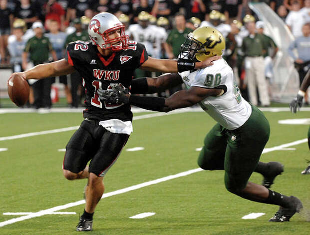15. New York Giants - DE Jason Pierre-Paul - South Florida's Jason Pierre-Paul (90) sacks Western Kentucky quarterback Brandon Smith during the first half of an NCAA college football game at Houchens-Smith Stadium in Bowling Green, Ky.  (AP Photo/Daily News, Joe Imel) / AP2009