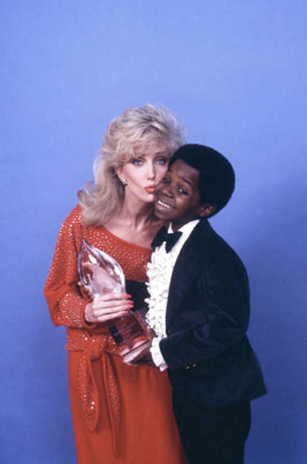 """Morgan Fairchild rose to TV fame in the '80s, with appearances on """"Simon & Simon,"""" """"Magnum, P.I."""" and """"The Love Boat."""" Then she really hit her vixen-y stride on """"Falcon Crest."""" She's pictured with actor Gary Coleman in 1983."""