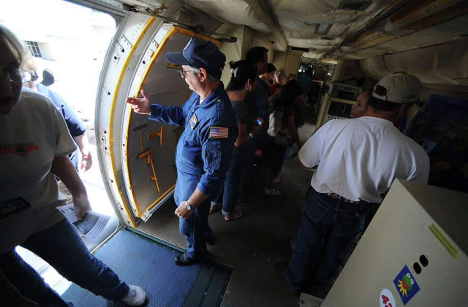 Crew members welcome guests onboard. Guiseppe Barranco/The Enterprise