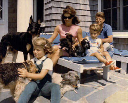 The family of President John F. Kennedy vacations in this undated photo. From left: Caroline, first lady Jacqueline Kennedy, John Jr. and President Kennedy. (AP Photo)