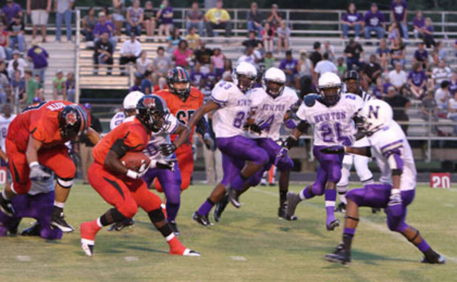 Kirbyville's LeFrederick Ford rushed for 201 yards in the Wildcats' win over Newton last Friday.