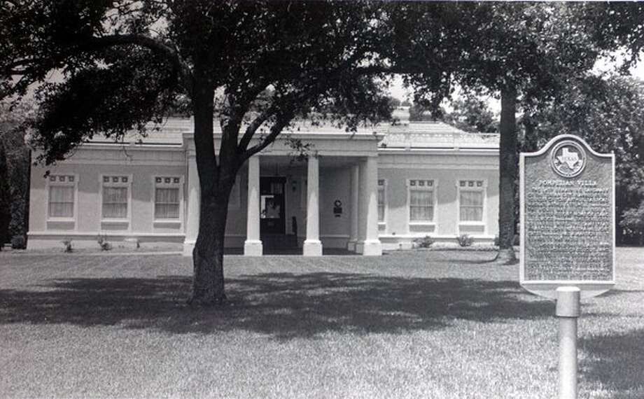 "According to the Texas Historical Commission plaque in front of it, Pompeiian Villa is ""the last remaining landmark of the 'Dream City"" planned by the founder of Port Arthur, railroad magnate Arthur B. Stilwell."" Enterprise file photo / Beaumont"