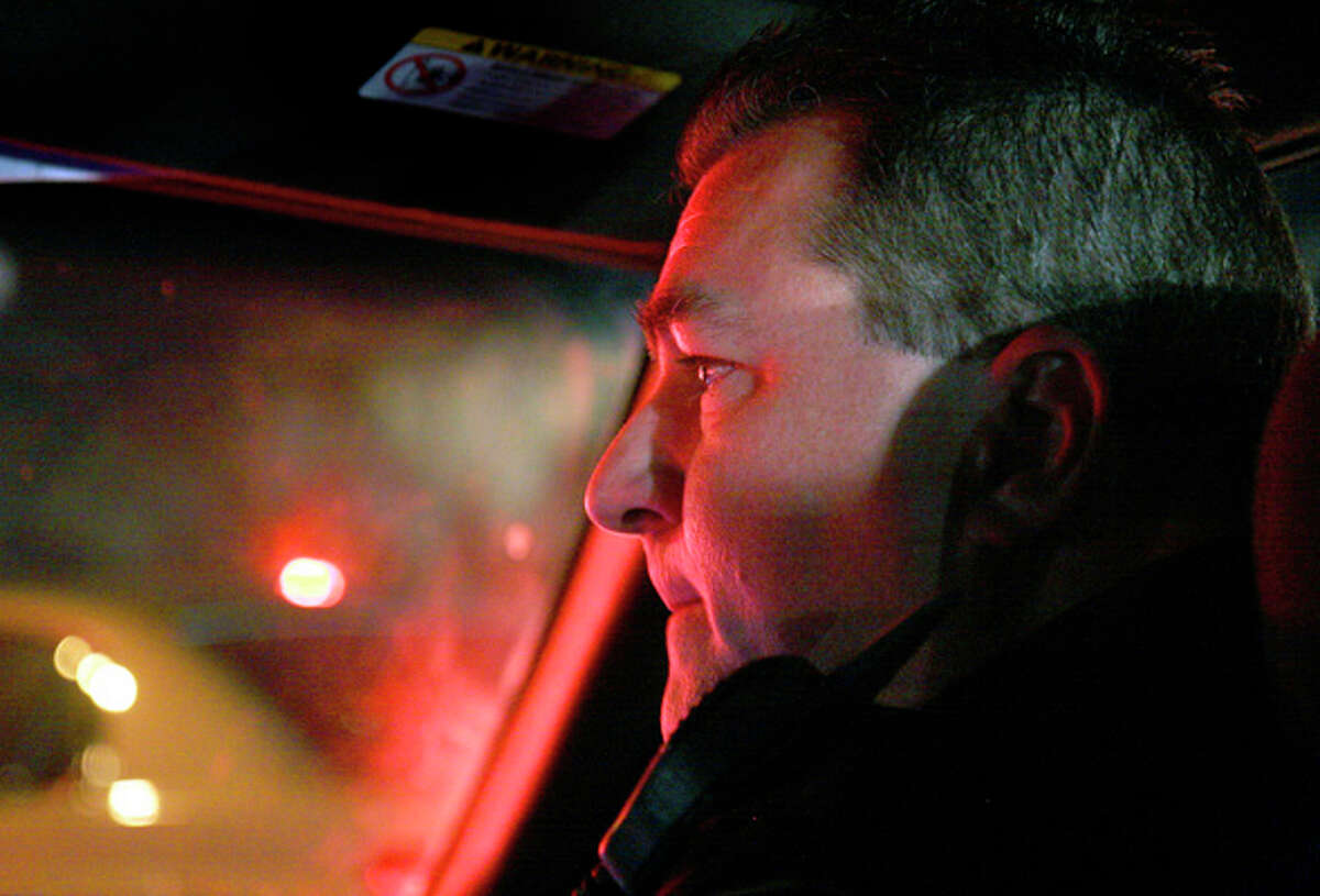 Lt. Joseph Salvaggio heads out to check on his officers in the Tactical Response Unit on Dec. 26, 2007.