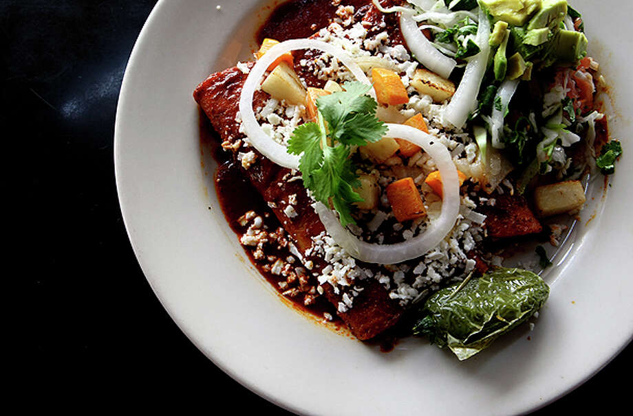 Enchiladas Mexicanas from Rosarios. / hmontoya@express-news.net