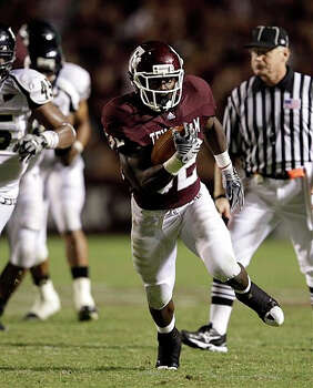 Texas A&M running back Cyrus Gray breaks away for a touchdown against Florida International on Sept. 18.