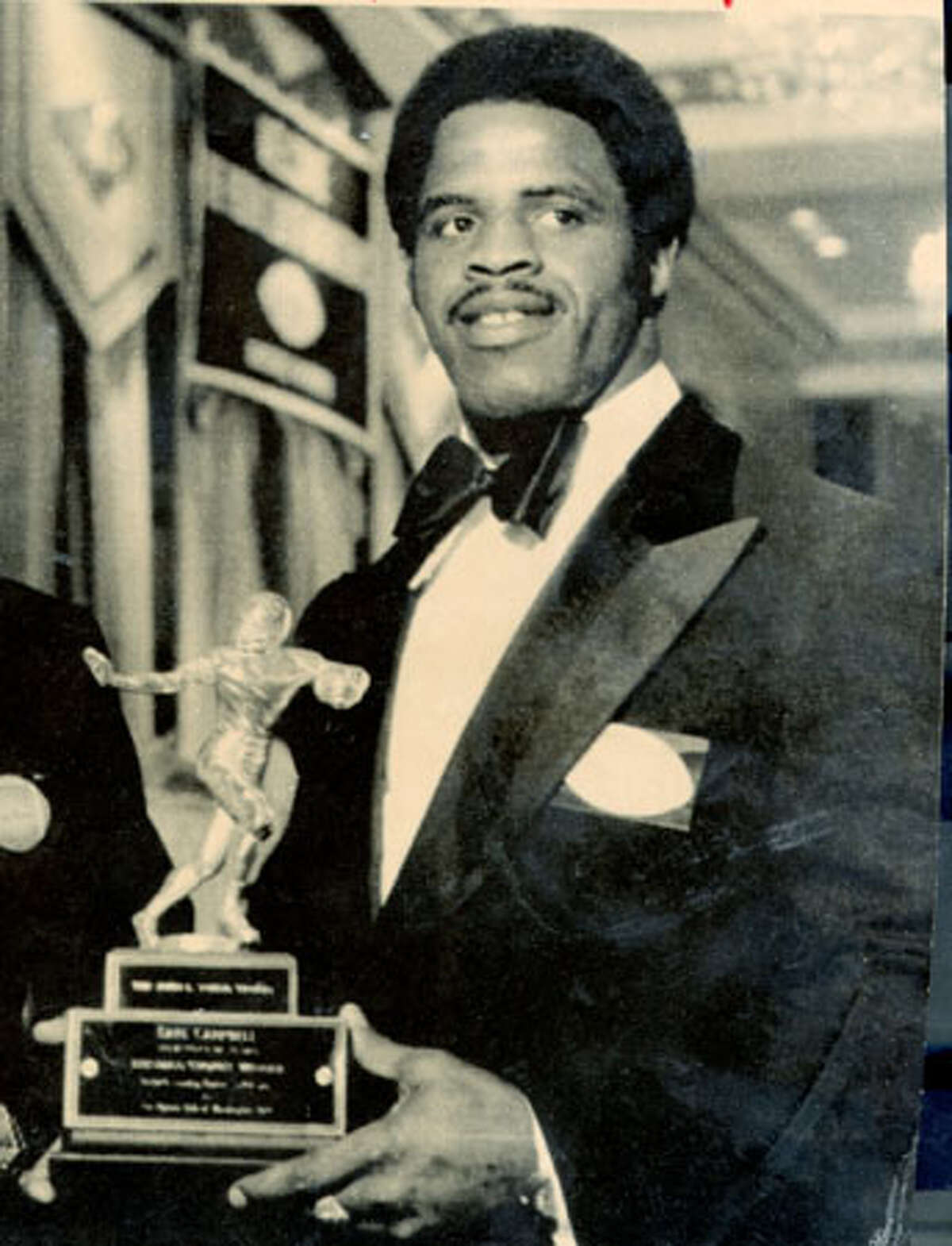 Earl Campbell won the 1977 Heisman Trophy after rushing for 1,744 yards and 18 TDs as Texas won the Southwest Conference with an 11-0 record. Campbell rushed for 222 yards in the regular-season finale against Texas A&M and was the No. 1 overall pick in the 1978 NFL Draft by the Houston Oilers. The Texas great rushed for 116 yards in the 1978 Cotton Bowl, but his top-ranked Longhorns lost to eventual national-champion Notre Dame 38-10. Source: attcottonbowl.com