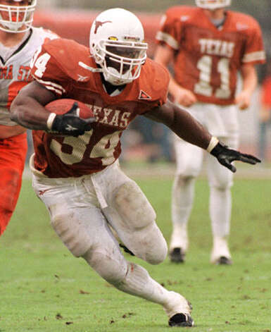 Running back Ricky Williams became Texas' second Heisman Trophy winner in 1998 after running for 2,124 yards and 27 TDs. He also had 24 receptions for 262 yards and another TD. He was even more of a runaway winner than Earl Campbell, raking in 2,355 points compared to the 792 garned by runner-up Michael Bishop of Kansas State. Williams was fifth in voting for the 1997 Heisman.